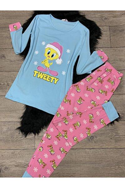 Sude Kadın Uzun Kollu Pijama Takımı
