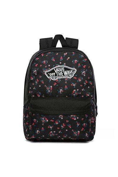 Vans 0a3uı6zx31-r Realm Backpack Kadın Sırt Çantası Siyah