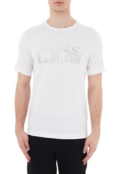 Hugo Boss Regular Fit Logo Baskılı Bisiklet Yaka Pamuklu T Shirt Erkek T Shirt 50435888 100