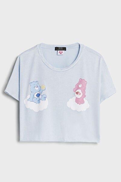Bershka Care Bears Crop Fit T-shirt
