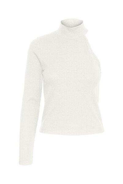 Vero Moda Kadın Beyaz Tek Kol Dik Yaka Bluz 10246535 VMSADIE