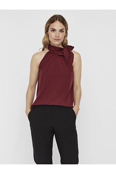 Vero Moda Kadın Bordo Bağlama Detaylı Kolsuz Bluz 10239011 VMJASIKA