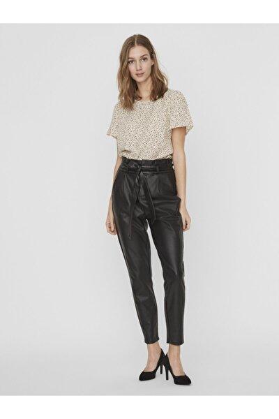 Vero Moda Kadın Siyah Paperbag Kaplama Pantolon 10232661 VMEVA