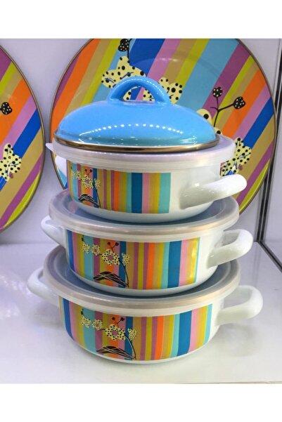 Miss Betty Rainbow 3'lü Pişir Sakla Seti Emaye