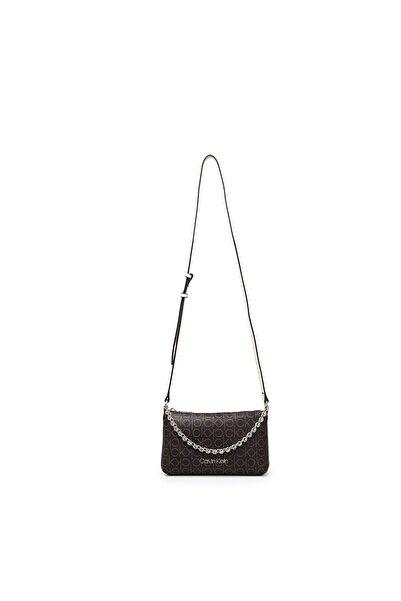 Calvin Klein Kadın Kahverengi Logo Baskılı Zincir Detaylı Çanta K60k607134 0hj