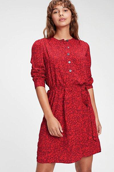 GAP Desenli Önden Düğmeli Elbise 619941