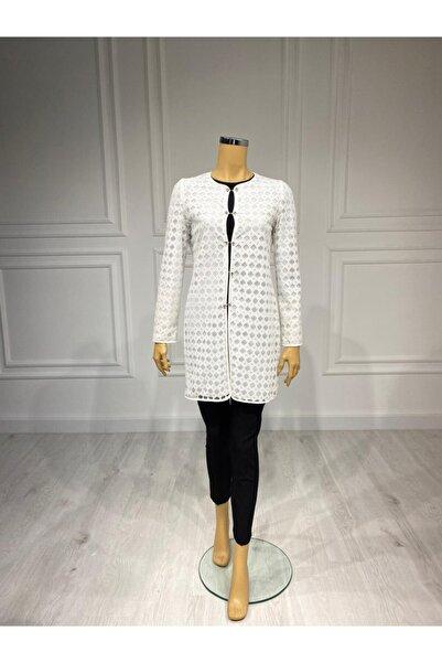 Moda İlgi Kadın Beyaz Tunik Ceket