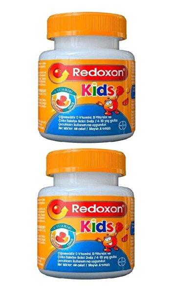 Redoxon _kids C Vitamini D Vitamini Ve Çinko Içeren Çiğnenebilir Tablet 60 Adet 2'li Paket