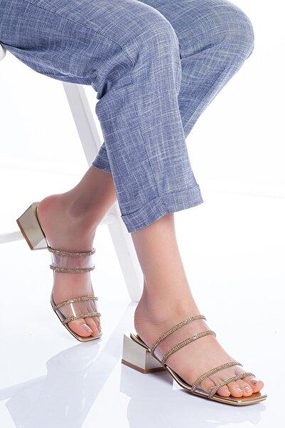VİVA Kadın Altın Lodi Topuklu Ayakkabı
