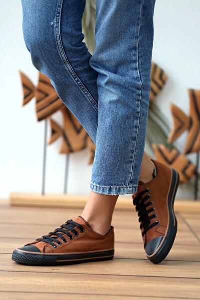 Pembe Potin Kadın Taba Nubuk Ayakkabı