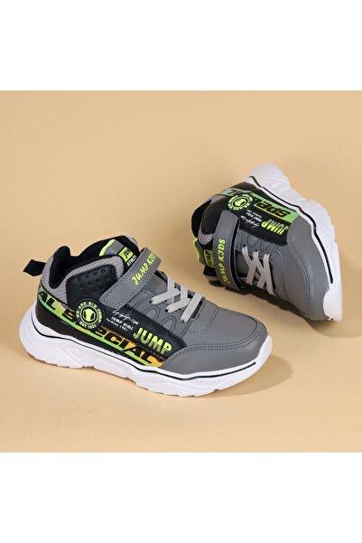 Jump Unisex Çocuk Yeşil Cırtlı Spor Ayakkabı