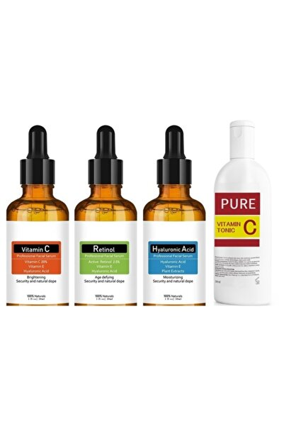 NATUREL Skin Care Hyaluronic Acid Retinol  Vitamin C Yüz Temizleme Toniği 200ml
