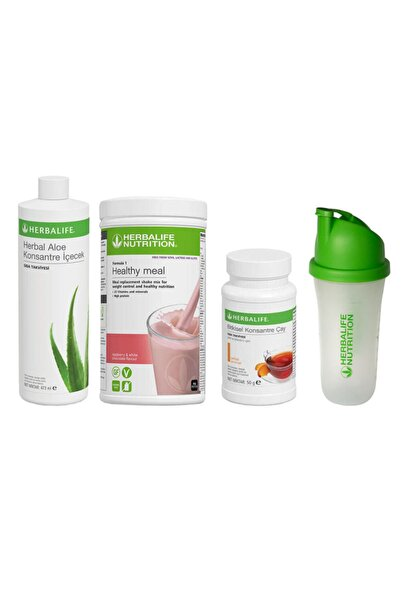 Herbalife Başlangıç Seti 15 1 Ahududu Shake x Şeftali 50 Gr Çay x Aloe Konsantre İçecek x Shaker