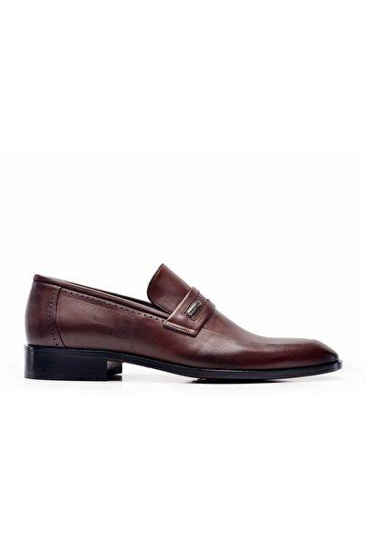 Nevzat Onay Erkek Kahverengi Klasik Loafer Kösele  Ayakkabı