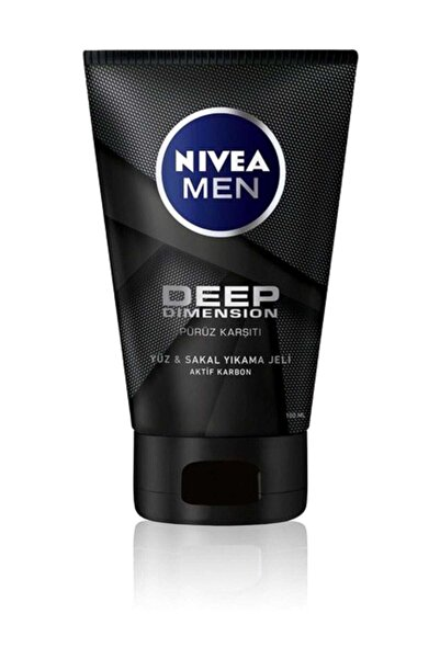 Nivea Men Deep Dimension Yüz & Sakal Temizleme Jeli 100 ml