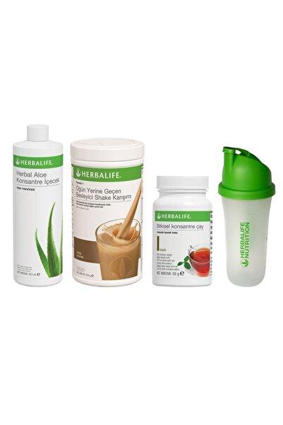 Herbalife Başlangıç Seti-9 1 Fındıklı Shake Klasik 50gr Çay Aloe Konsantre Içecek Shaker