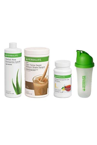 Herbalife Başlangıç Seti-10 1 Fındıklı Shake Limon 50gr Çay + Aloe Konsantre Içecek+ Shaker