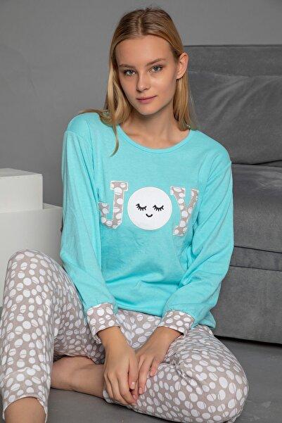 STRAWBERRY Kadın Yeşil Interlok Pijama Takim