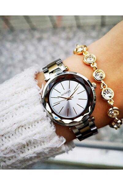 Homies Kadın Orijinal Çelik Şık Saati Bileklik