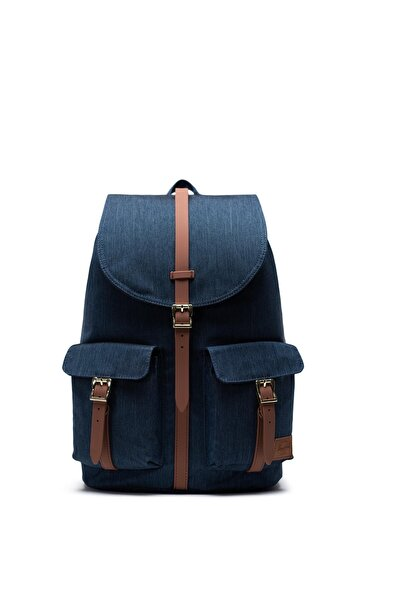 Herschel Supply Co. Unisex Sırt Çantası - Dawson Indigo Denim Crosshatch - 10233-03537-OS