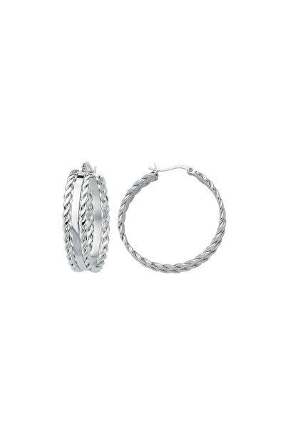 Luzdemia Double Twisted Hoop Earring - White