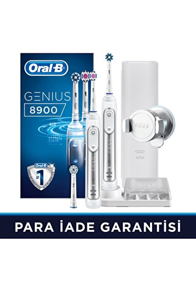 Oral-B Genıus Beyaz 8900 Sarjlı Dıs Fırcası 2'lı