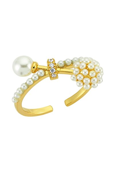 Luzdemia Curly Pearl Ring 925