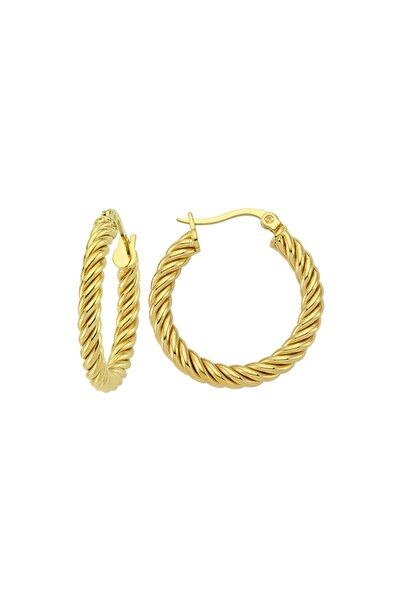 Luzdemia Twisted Hoop Earring - Gold