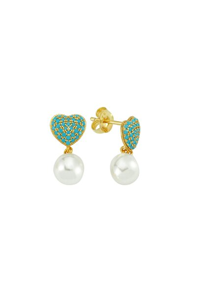 Luzdemia Turquoise Heart Earr. 925