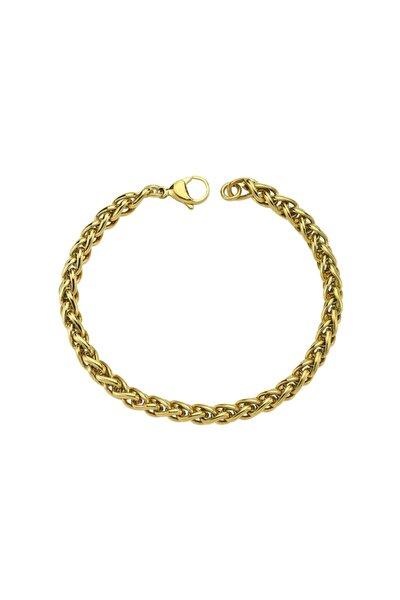 Luzdemia Kadın Çelik Bileklik - Gold