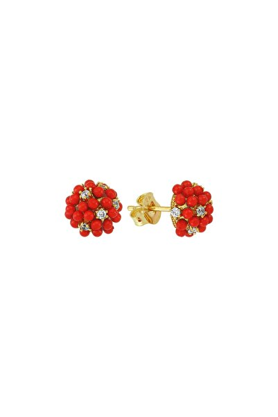 Luzdemia Red Grape Earr. 925