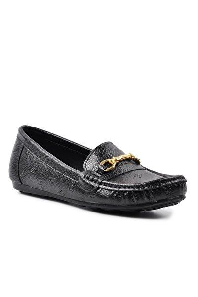 Pierre Cardin 50696 Siyah Hakiki Deri Kadın Günlük Ayakkabı
