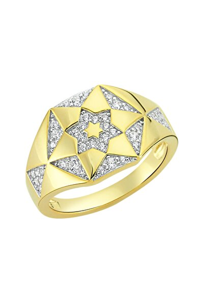 Luzdemia Chiron Star Ring 925 - Gold/white