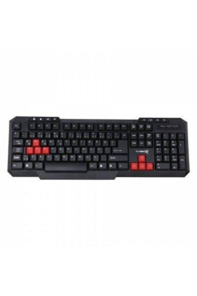 TURBOX Klavye Tr-x3 Red / Black Oyuncu Gaming Multimedya Q Tr