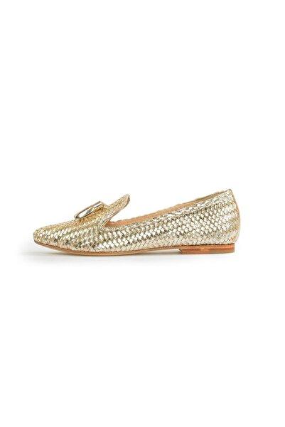 Flower Kadın Dore Püsküllü Günlük Ayakkabı