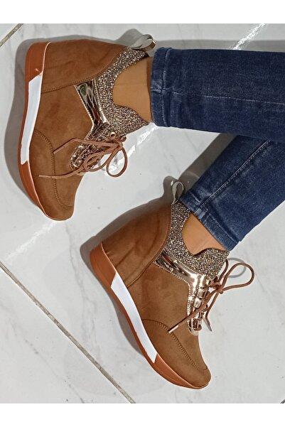 dilan ayakkabı Kadın Gizli Topuk Spor Ayakkabı