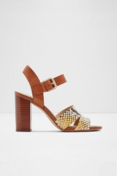 Aldo Kadın Sarı Hakiki Deri Yüksek Topuklu Sandalet