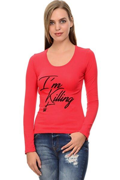 T-Box Kadın Kırmızı Tişört 501962160
