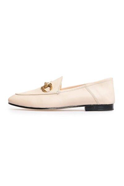 Flower Kadın Bej Tokalı Günlük Ayakkabı