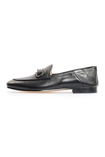 Flower Kadın Siyah Tokalı Günlük Ayakkabı