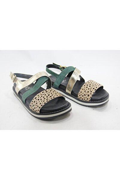 İnci Kadın Haki Deri Topuklu Ayakkabı