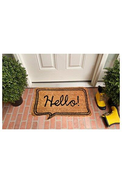 GizHome Bej Hello Koko Kapı Paspası 40x60 cm