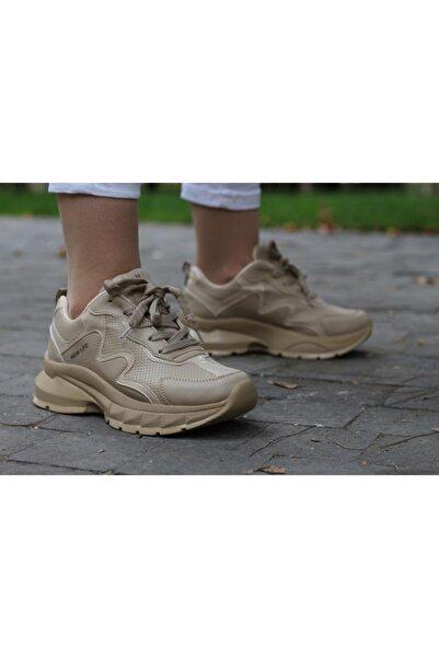Armada Kadın Kahverengi Spor Kalın Taban Rahat Kalıp Mevsimlik Spor Ayakkabı