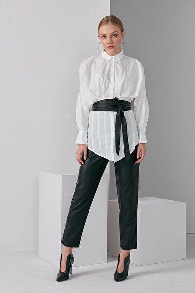 BEBE PLUS Kadın Beyaz Gömlek