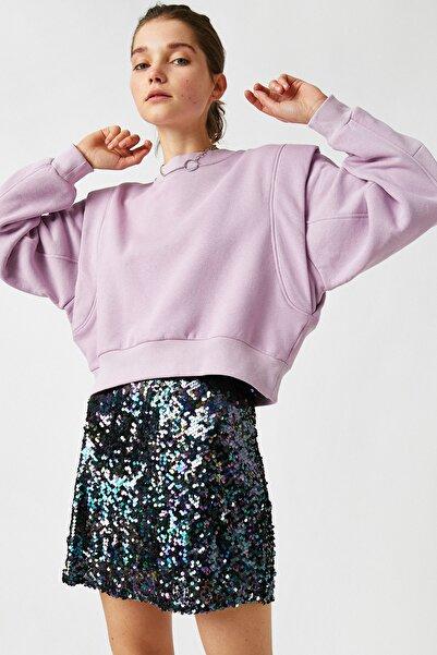 Koton Kadın Lila Sweatshirt 1KAL68173OK