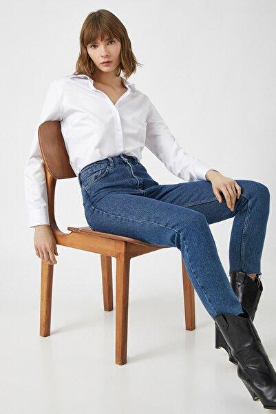 Koton Kadın Beyaz Gömlek 1YAK62143UW
