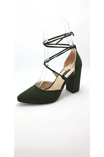Rome Kadın Yeşil Bilekten Bağlı Ayakkabı