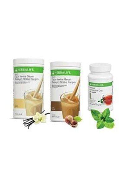 Herbalife Hızlı Kilo Kontrol Seti (vanilya 550 Gr+fındık 550 Gr+klasik Çay 50 Gr
