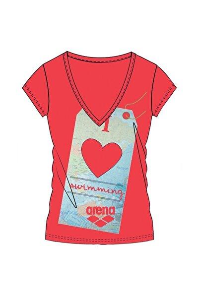ARENA Kadın  Kırmızı I Love Baskılı T-shirt