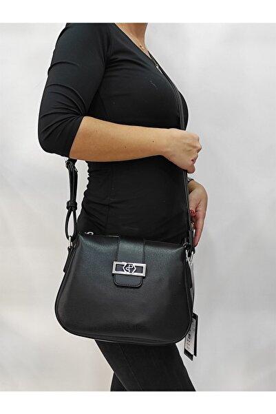 Silver Polo Kadın Siyah Postacı Çanta 955